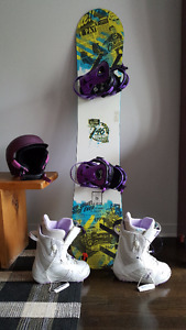 Snowboard and/or Boots and/or Helmet (they match :)