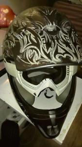 Raider MX Tribal helmet (Goggles included)