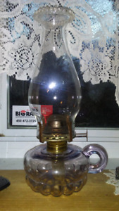 1900 queen mary antique hand flower petales  lampe a l huile