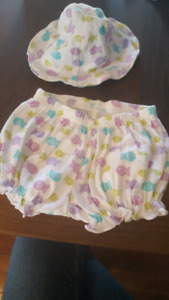 Gerber outfit for baby girl size o to 3