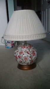Table Lamp with Flowers on it - $40