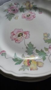 Canadian made dishes poppy design