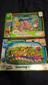 Leap Frog - 2 games, Touch Magic Counting Train & Ocean Music