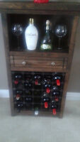Hand crafted wine rack