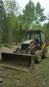 2006 cat backhoe with extended hoe