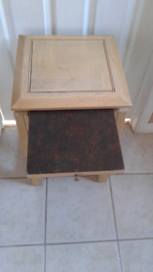 Two small accent tables $ 15 each