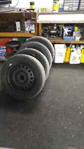 4 Michelin snow tires and rims London Ontario image 1