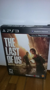 The last of us collector edition ps3 30$ bien lire