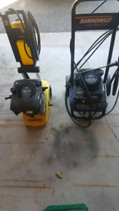 Two pressure washers for sale