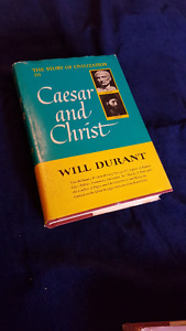 Durants'  Caesar and Christ  / Age of Reason Begins   ea. =$10