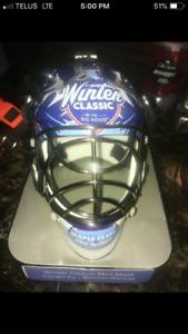 Winter classic mini goalie mask autographed