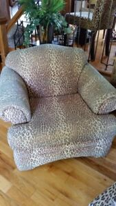 Leopard sofa with Ottoman