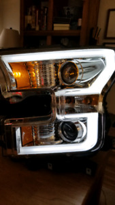 2015-17 Ford F150 ANZO USA Chrome Projector Switchback Headlight