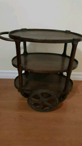 Mahogany Tea Cart