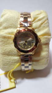 New Invicta Pro-Diver 12527 Ladies Watch - Gold Plated