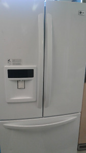 "LG 32"" White French Door Fridge w/ Great Features"