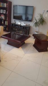 coffee table , end table and book case