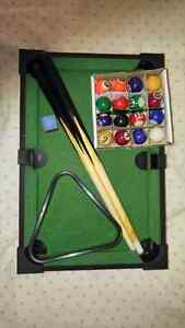 Miniature pool table(negotiable price)