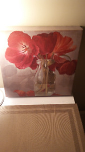 Wall Hangings - all 3 for $10 - 2 floral and 1 family tree theme