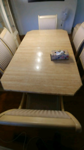 Dining room table and hutch - $650