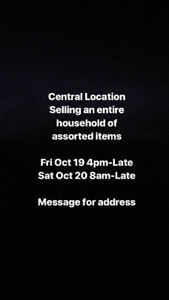 INDOOR HOUSE GARAGE SALE FRI/SAT