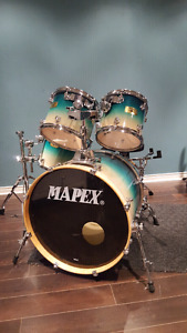 Mapex maple drums with cymbal stands