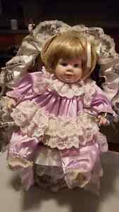 Porcelain doll with wicker chair Windsor Region Ontario image 1