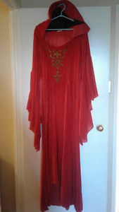 Gorgeous Adult Red Riding Hood Costume  Size M/L & Also A Wig