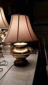 Solid brass lamp no shade Cambridge Kitchener Area image 2