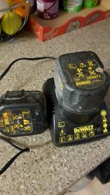 Dewalt charger 7.2 to 14.4 v DE9118 x2 batteries £13.00