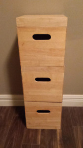 3 Solid wooden boxes PPU