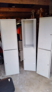 Metal horizontal storage cabinets