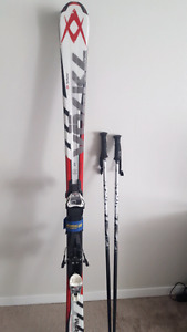 Volkl Down hill skis and poles