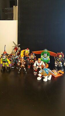 Lot of 10 Mattel  Rescue Heroes Action Figures & Dog w/ Sled