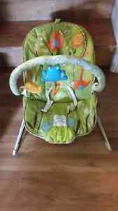 Infant vibrating musical bouncy chair