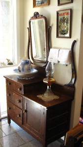 Antique Washstand with Harp 1890's