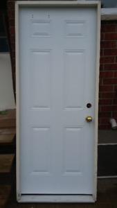 "32"" steel door with frame"