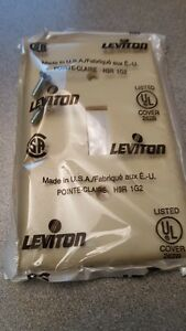 Ivory Toggle Switch Cover Wall Plate Switchplate LEVITON 86001