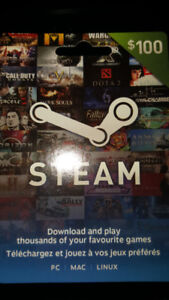 Steam Gift card $100