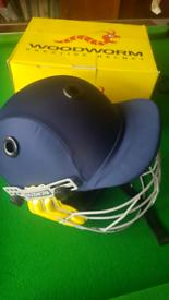 Brand new Woodworm Prestige Cricket Helmet blue junior