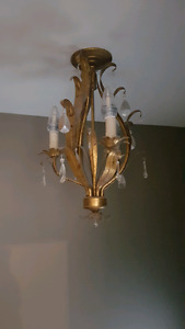 2 Ceiling lights (retro style chandelier)