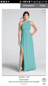 David's Bridal bridesmaid dress F18055 in Spa