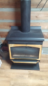 FS32 TN - freestanding Propane gas fireplace With Chimmney