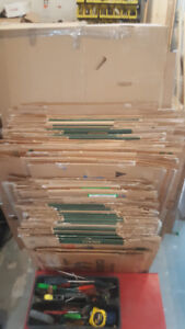 65 Cardboard Boxes various sized $1 each