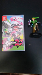 Nintendo Switch Spatoon 2 $60     Super Smash Bros amibo $20