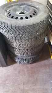 Goodyear Nordic 225/60R17 winter tires with steel rims