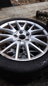 """17"""" 5x112 rims with tires"""