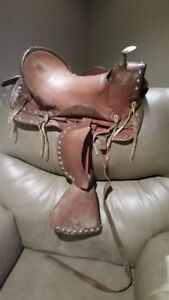 Vintage Leather Miniature Horse Pony Saddle