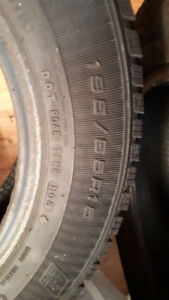 four 195/65/15 good year ultra grip ice and snow tires