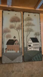 PAINTED PICTURES ON SLATE STONE